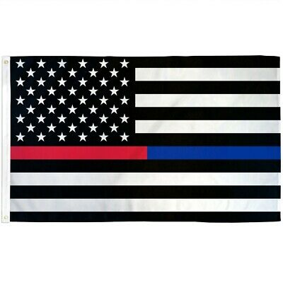3x5 American Thin Red and Blue Line USA Flag Police Firefighters First Responder