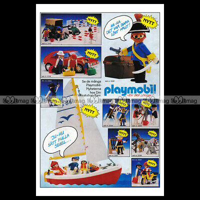 #phpb.001599 Photo PLAYMOBIL VINTAGE CLASSIC A4 Advert Reprint