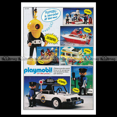 #phpb.001600 Photo PLAYMOBIL VINTAGE CLASSIC A4 Advert Reprint