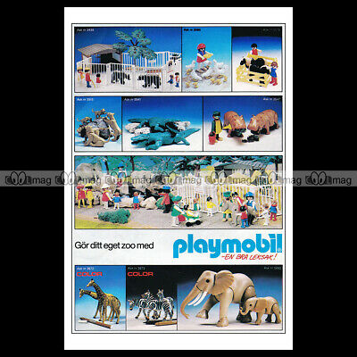 #phpb.001608 Photo PLAYMOBIL VINTAGE CLASSIC A4 Advert Reprint