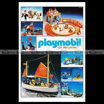 #phpb.001611 Photo PLAYMOBIL VINTAGE CLASSIC A4 Advert Reprint