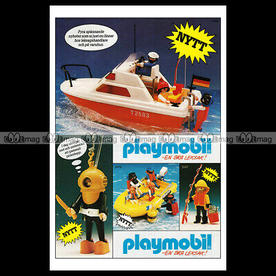 #phpb.001612 Photo PLAYMOBIL VINTAGE CLASSIC A4 Advert Reprint