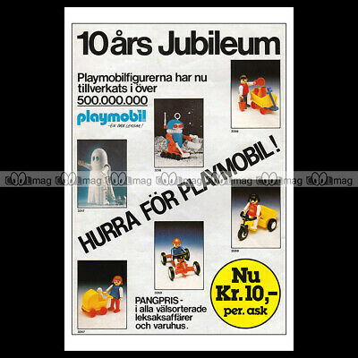 #phpb.001613 Photo PLAYMOBIL VINTAGE CLASSIC A4 Advert Reprint