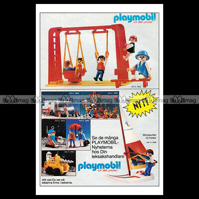 #phpb.001615 Photo PLAYMOBIL VINTAGE CLASSIC A4 Advert Reprint
