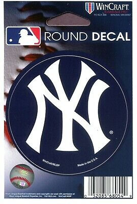 NEW YORK YANKEES ~ 3 Inch Circular Color Sticker Decal Auto Car Window ~ New!