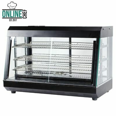 3 Shelf Commercial Countertop Heated Food Display Case Warmer with Sliding Doors