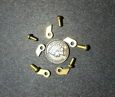 Clicks Solid Brass Antique Clock Parts 5 Small Clicks And Rivets