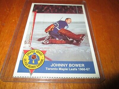 1993-94 High Liner Greatest Goalies # 9 JOHNNY BOWER TORONTO MAPLE LEAFS