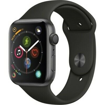 Apple 44mm Series 4 GPS Smart Watch with Aluminum Case - Space Gray/Black