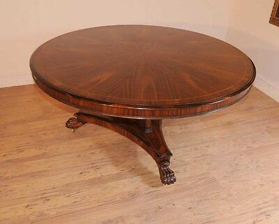 Regency Rosewood Round Dining Table Centre Tables Furniture
