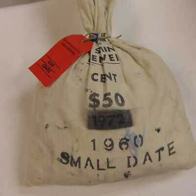 1960 D SMALL DATE BAG OF 5000 LINCOLN MEMORIAL CENTS - BU Mostly Red