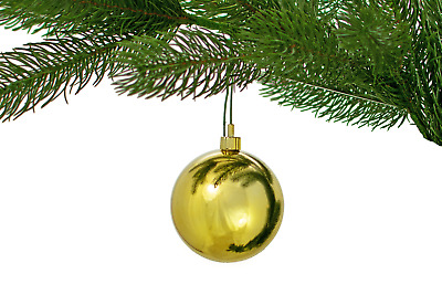 """24 LARGE SHINY 2"""" GOLD CHRISTMAS BALLS OUTDOOR PLASTIC ORNAMENTS 50MM 24 Count"""
