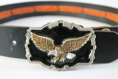 Great American Buckle Company Motorcycle Conchos Belt & Eagle Buckle Size 30