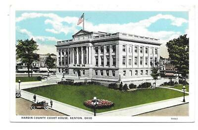 VINTAGE POSTCARD HARDIN County Court House Advertising