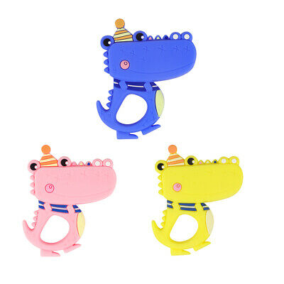 Baby Teether Silicone Teething Toy Ring Soother Chewing Animal BPA Free DIY