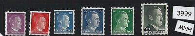 #3999     Small MNH stamp set / Adolph Hitler / Nazi Germany / 1940s Third Reich