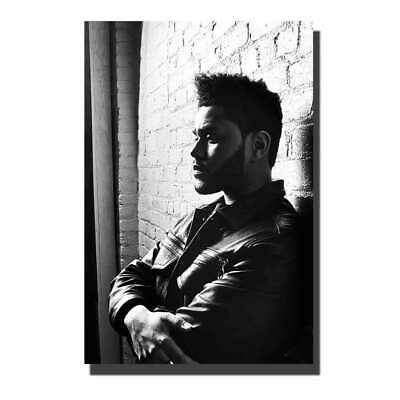 Fabric Poster 24x36in Canvas  The Weeknd Starboy singer Custom room decor A-138