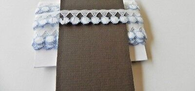 Card of  New Lace - White and Blue