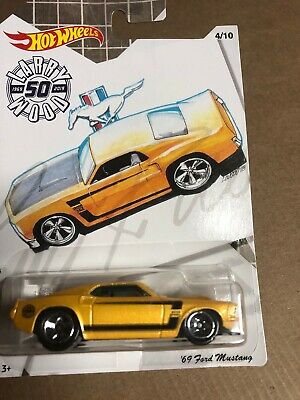 Hot Wheels 2019 '69 Ford Mustang Larry Wood 50th Anniversary Walmart Exclusive *