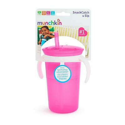 SnackCatch & Sip 2-in-1 Snack Catcher and Spill-Proof Cup - Pink