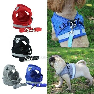 Pet Adjustable Small Walking Harness Reflective Strap Vest for Dog Lead and Cat
