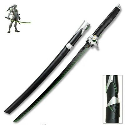 Genji Overwatch Dragon Blade Katana Steel Sword Black/Green New