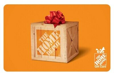 $100 The Home Depot Physical Gift Card - Delivery Via US Mail