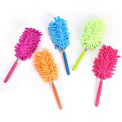 Extendable Microfibre Duster Handle Magic Feather Brush Cleaning Home DP