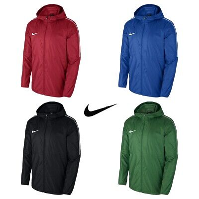 Nike Boys Rain Jacket Junior Football Waterproof Coat Kids Hoodie Lightweight
