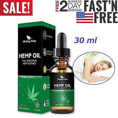 Hemp Seed Oil CDB Drops Organic Anti-Inflammatory Pain Relief Sleep Aid 2500 mg