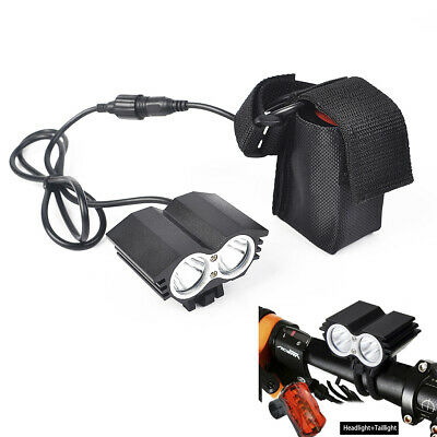 Bike Front Light Bicycle LED Lamp Headlight Flashlight Riding equipment Batterie