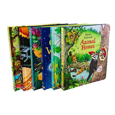Usborne Look Inside 6 Books collection Set - Animal Home, Nature, Jungle