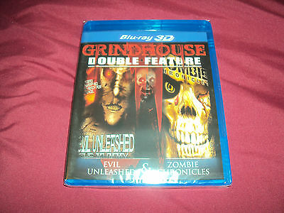 EVIL UNLEASHED & ZOMBIE CHRONICLES Grindhouse Double Feature 3D Blu-Ray Sealed