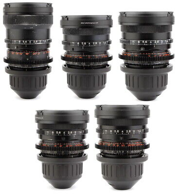 @ 5x OPTON / ZEISS Super Speed 18 25 35 50 85 Lens Set ARRI PL Arriflex Mount @