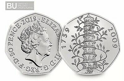 2019 Kew Gardens 50p Brilliant Uncirculated BUNC BU Sealed And Certified New