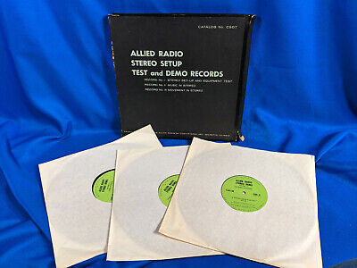 Allied Radio Stereo Setup 3 LP Box Set Test and Demo Records Audiophile