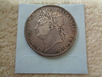 1821 Great Britain Crown Silver coin Better details