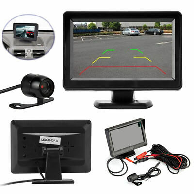 "Car Backup Camera Rear View System Night Vision + 4.3"" TFT LCD Monitor CHH"