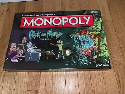Rick and Morty Monopoly New (Opened) See description