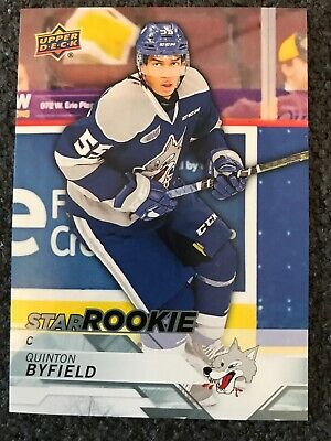 18/19 UD CHL Star Rookie Quinton Byfield #400 SP X RC Sudbury Wolves