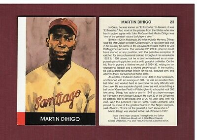 #23 MARTIN DIHIGO, Hall of Fame great | Eclipse Stars of the Negro Leagues