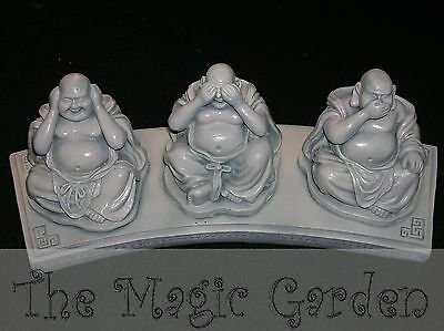 3 wise buddha buddah hear, see, speak no evil cement plaster moulds molds
