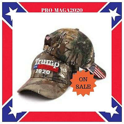 Donald Trump 2020 Cap Camouflage USA Flag Baseball Caps Keep America Great *Hunt