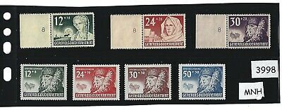 #3998  1940 MNH stamp set / Winter Relief / Poland Nazi Occupation / Third Reich
