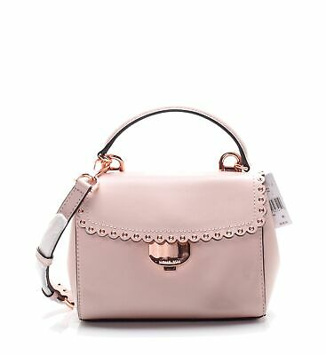 1ed4d19744b428 Michael Kors NEW Soft Pink Rose Gold Extra Small Crossbody Leather Bag $228  #013
