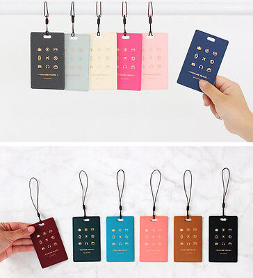 Picto Name ID Tag for Suitcase Luggage Baggage Bag Strap Label Holder