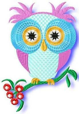 OWLS MIXED 15  10 MACHINE EMBROIDERY DESIGNS CD or USB