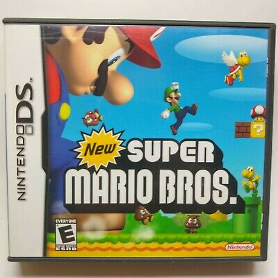 Case New Super Mario Bros. (Nintendo DS 2006) CASE AND MANUAL ONLY