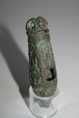 ANCIENT EGYPTIAN BRONZE SITULA 30th DYN 350 BC DYNASTIC