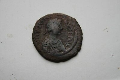 ANCIENT BYZANTINE JUSTINIAN BRONZE  FOLLIS COIN 6th CENTURY AD